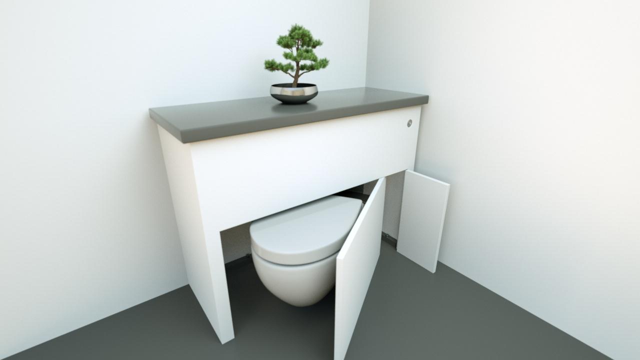 hidealoo discretionary unit no basin with door half open v2