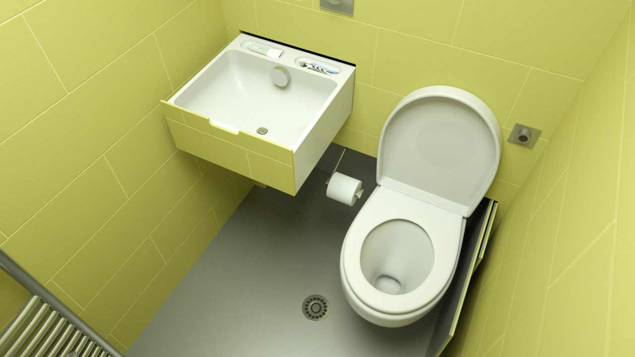 hidealoo showerloo with basin and toilet extended