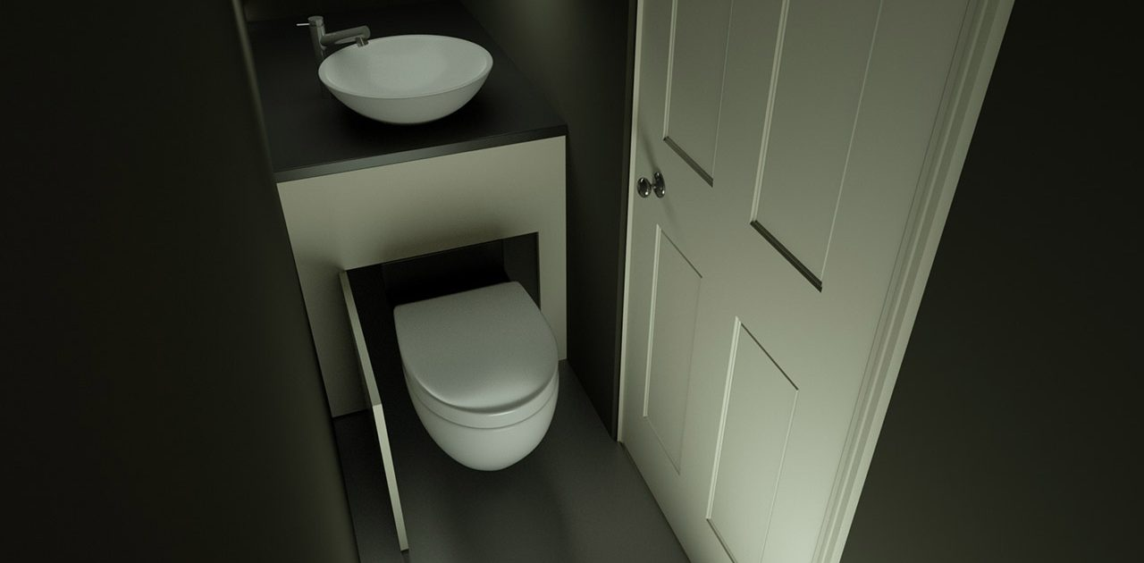 future hidealoo household product called the slidealoo with basin to help space saving