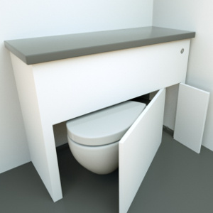 hidealoo space saving toilet discretionary unit