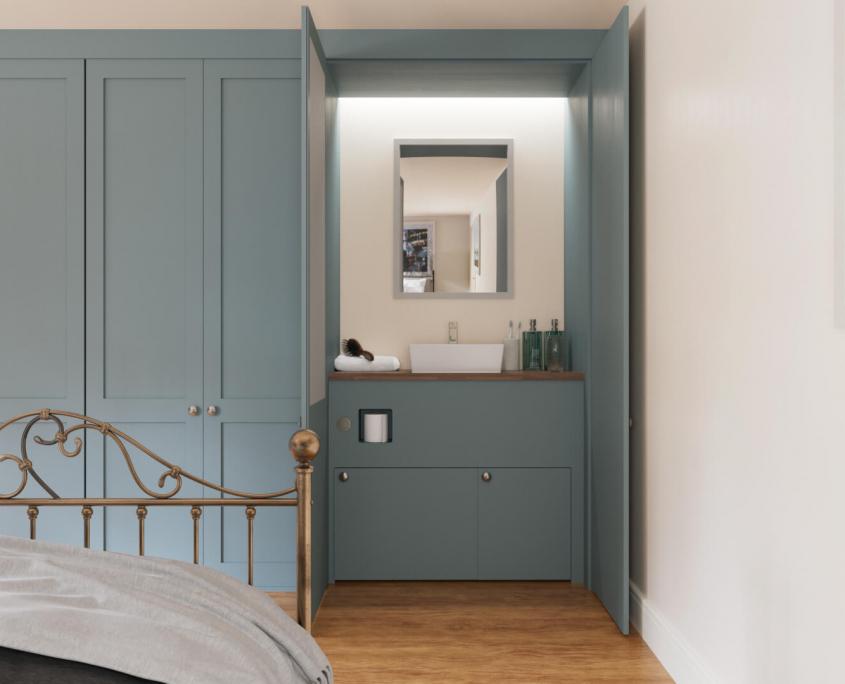 wardrobe doors open with hidden hidealoo retractable toilet closed idea
